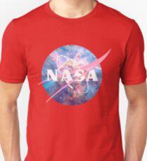 Pastel Nebula Nasa Logo Unisex T-Shirt