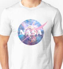 Pastellnebel Nasa Logo Slim Fit T-Shirt