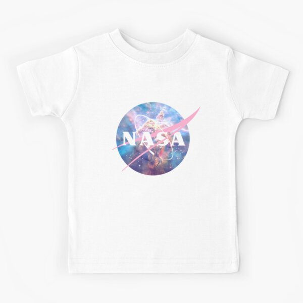 Pastel Nebula Nasa Logo Kids T-Shirt