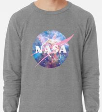 Pastel Nebula Nasa Logo Lightweight Sweatshirt