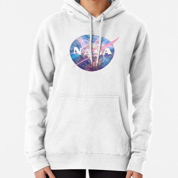 Pastel Nebula Nasa Logo Pullover Hoodie