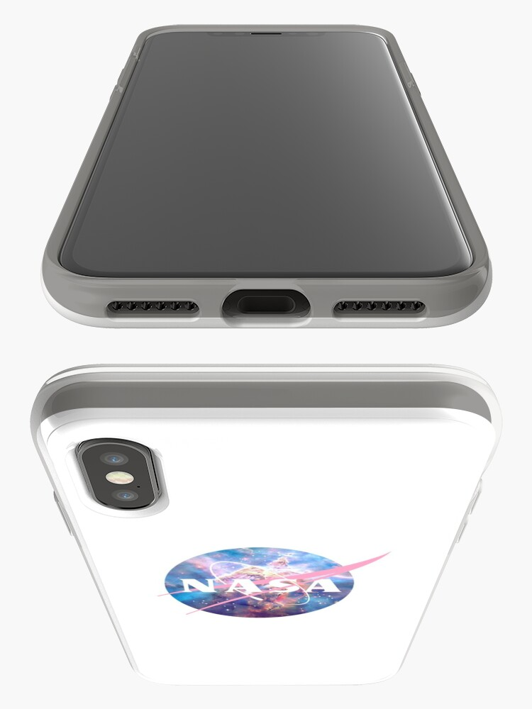 Alternative Ansicht von Pastellnebel Nasa Logo iPhone-Hülle & Cover