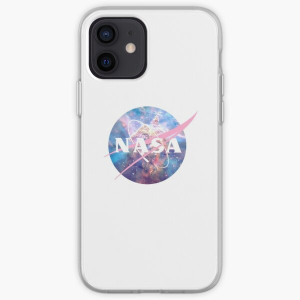 Pastel Nebula Nasa Logo iPhone Soft Case