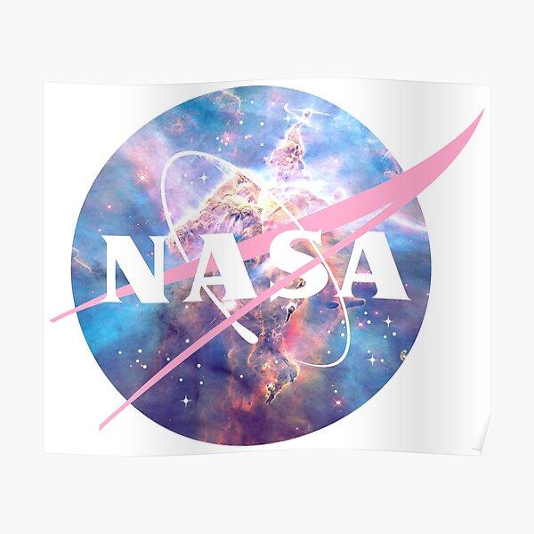 Pastel Nebula Nasa Logo Poster