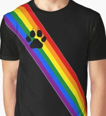 Rainbow Pup Sash Graphic T-Shirt