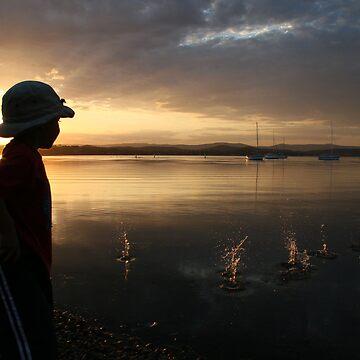 My Nephew Having Fun By The Lake.... by Renae