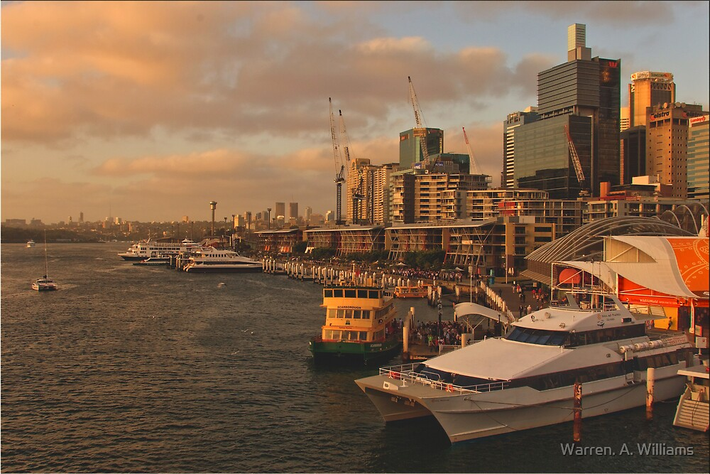 Sydney  Darling Harbour    by Warren. A. Williams