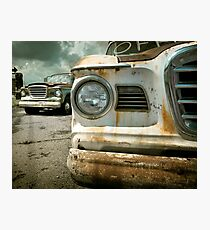 Rusty Studebaker Champ Pickup(s) Photographic Print