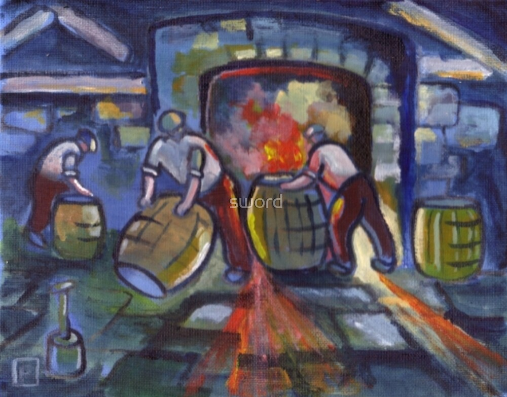 The cooperage  (from my original acrylic painting) by sword