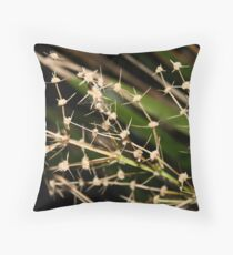 Prickly Spider Paradise Throw Pillow