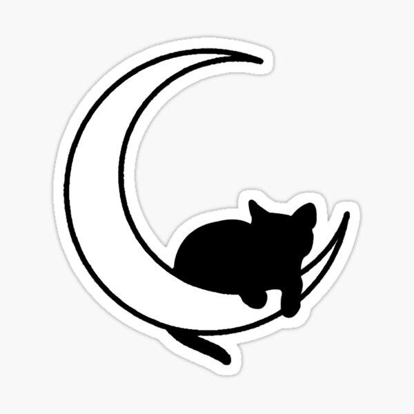 Moon + Cat Sticker