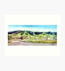 Landscape of NSW Australia Art Print