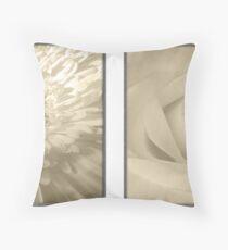 Sepia Petals Throw Pillow