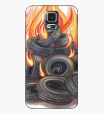 Portrait of the Artist as a Young Tire Fire Case/Skin for Samsung Galaxy