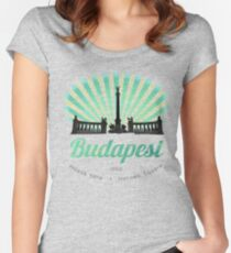 Hősök tere - Heroes' Square - Budapest, Hungary Women's Fitted Scoop T-Shirt