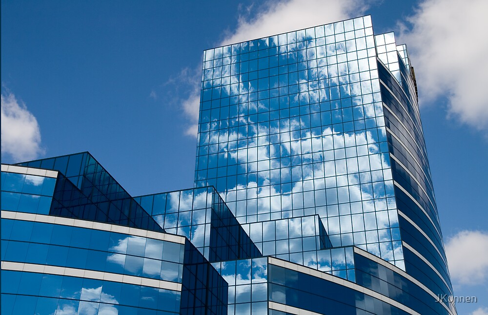Glass Building in Blue by JKunnen