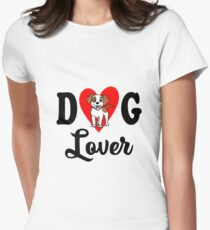 Dog Lover Womens Fitted T-Shirt