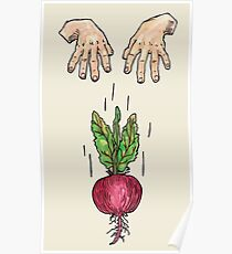 dropping beets Poster