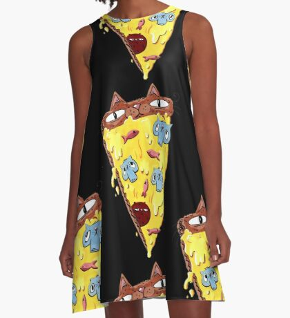 Pizza Kitty A-Line Dress
