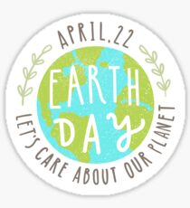 Let's care about our planet Sticker