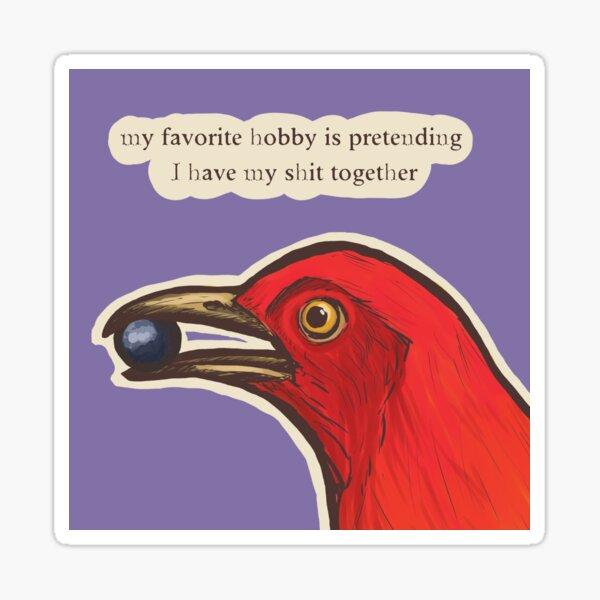 Bowerbird Pretends Sticker