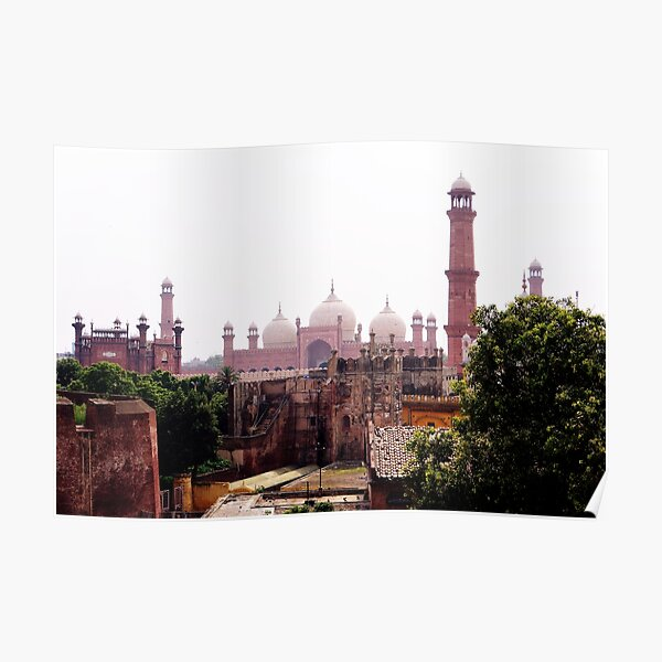 Badshahi Mosque and Lahore Fort Poster