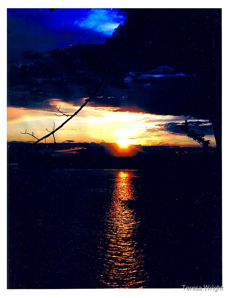 Sunset on Rice Lake by Teresa Wright