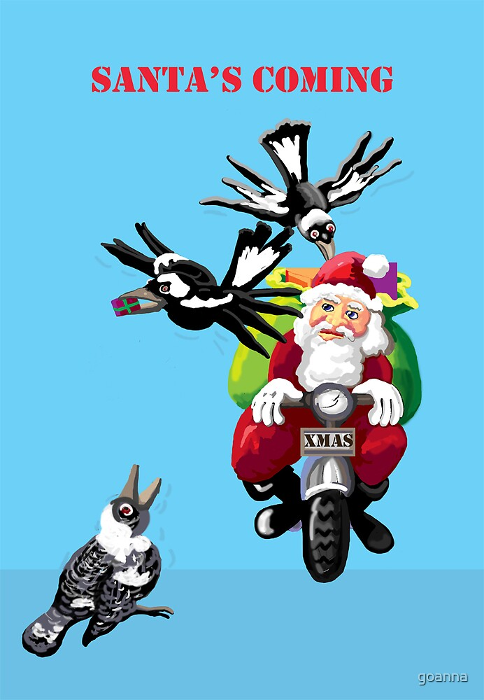 Santa and the magpies by goanna