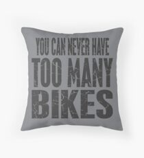 Bikes Bikes Bikes Throw Pillow