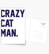 Crazy Cat Man Postcards