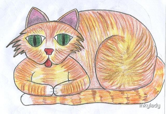 cat 2 by inkylady