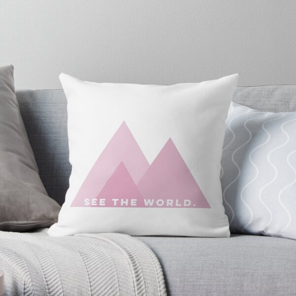 See The World  Throw Pillow