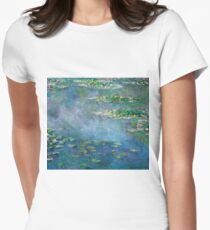 Claude Monet - Water Lilies Womens Fitted T-Shirt