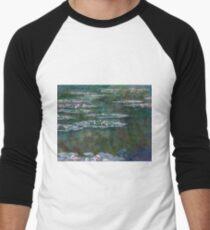 Claude Monet - Water Lilies Men's Baseball ¾ T-Shirt