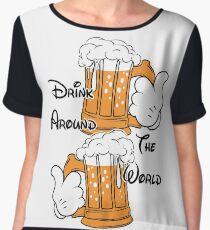 Drink around the world Women's Chiffon Top