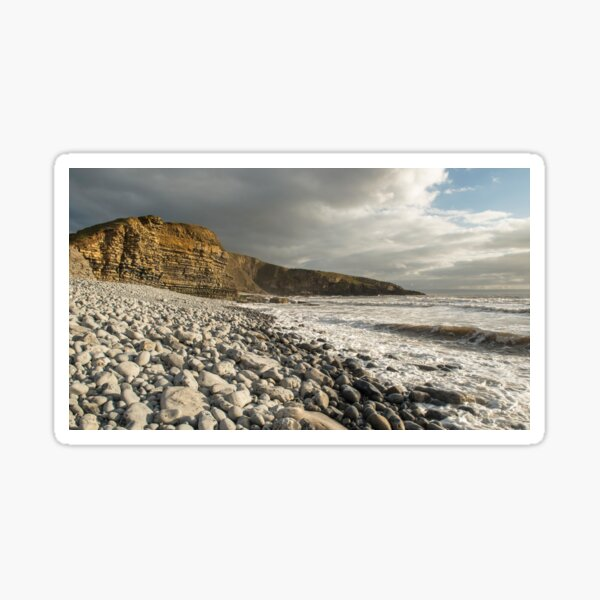 Dunraven Bay in the Evening. Arguably the best beach along the Glamorgan Heritage Coast in south Wales. The light here can be stunning. Sticker