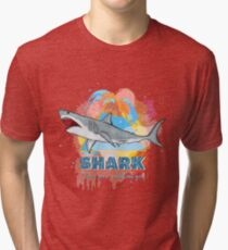 Great White Shark Tri-blend T-Shirt