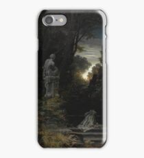 Ferdinand Knab (German, ), A Woman at the Fountain with Rising Moon,  iPhone Case/Skin