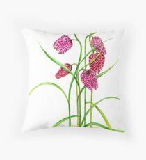 Leper Lily - Fritillaria meleagris Throw Pillow