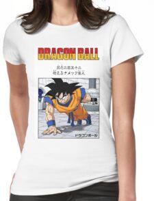 DBZ - GOKU TRAINING Womens Fitted T-Shirt