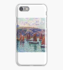 Fishing Boats, Finistere,  by Henri Moret iPhone Case/Skin