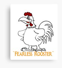 fearless rooster Canvas Print