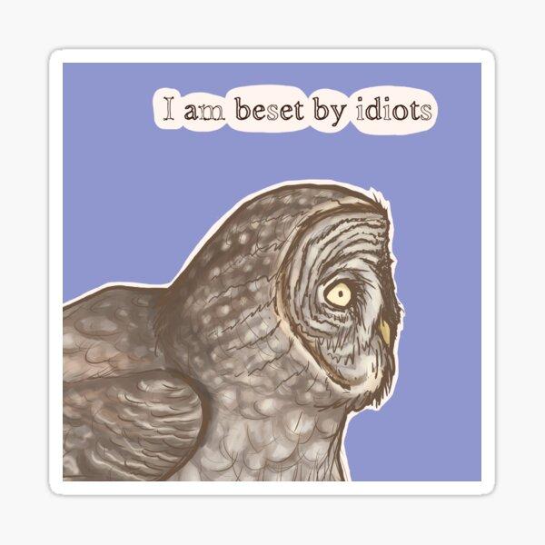 Beset Owl Sticker