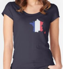 France Women's Fitted Scoop T-Shirt