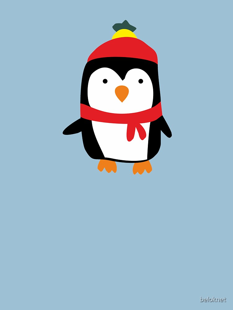Hand Drawn Penguin T-shirt by beloknet
