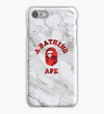 A Bathing Ape Red iPhone Case/Skin