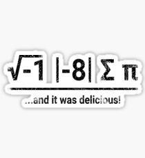 I Ate Some Pi | vintage Sticker