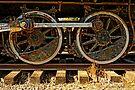 Black Train Wheels by Larry Costales
