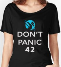 Don't Panic! Hitchhiker's Guide to the Galaxy Women's Relaxed Fit T-Shirt