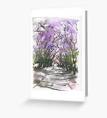 Purple Fantacy Greeting Card